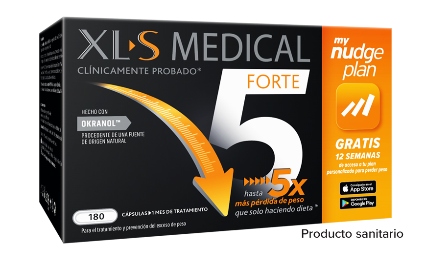 pastillas para perder peso Forte 5 Nudge de XLS Medical